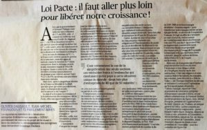 Le Figaro Loi PACTE