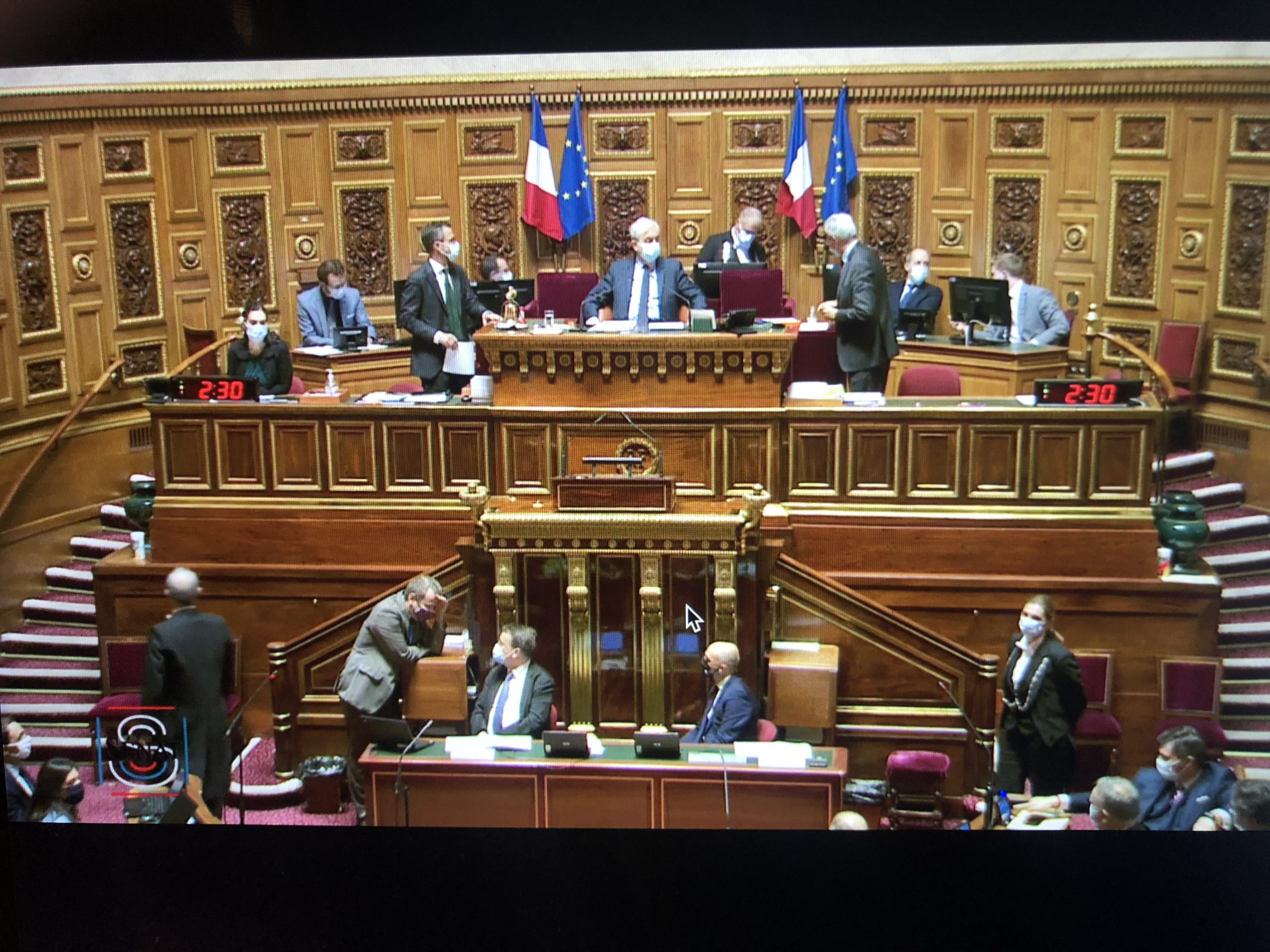 Capture d'écran Public Sénat