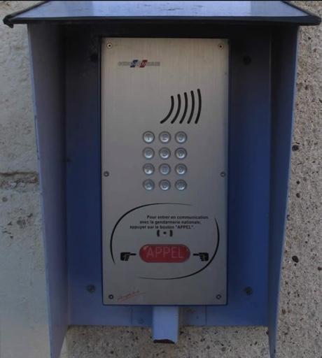 Interphone de la gendarmerie